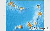 Political Shades 3D Map of Cape Verde
