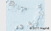 Silver Style 3D Map of Cape Verde