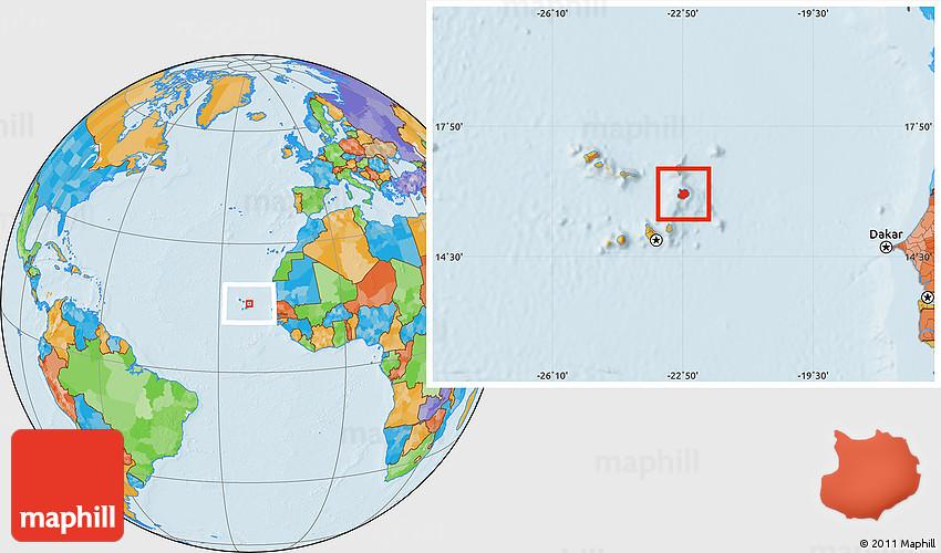 Political Location Map Of Boa Vista