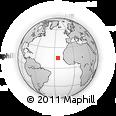 Outline Map of Brava