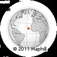 Outline Map of Fogo