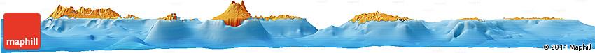 Political Shades Horizon Map of Cape Verde