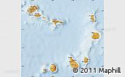 Political Map of Cape Verde, lighten