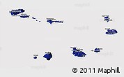 Flag Panoramic Map of Cape Verde