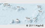 Gray Panoramic Map of Cape Verde