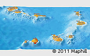 Political Panoramic Map of Cape Verde