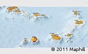 Political Shades Panoramic Map of Cape Verde, lighten