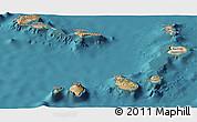 Satellite Panoramic Map of Cape Verde