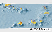 Savanna Style Panoramic Map of Cape Verde