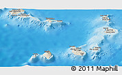 Shaded Relief Panoramic Map of Cape Verde
