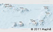 Silver Style Panoramic Map of Cape Verde