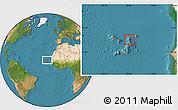 Satellite Location Map of Sal