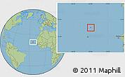 Savanna Style Location Map of Sal