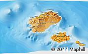 Political Shades 3D Map of Santo Antao