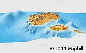 Political Shades Panoramic Map of Santo Antao