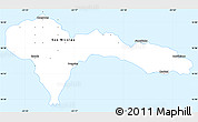 Silver Style Simple Map of Sao Nicolau
