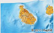 Political Shades 3D Map of Sao Tiago