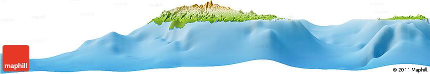 Physical Horizon Map of Sao Tiago