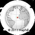 Outline Map of Praia