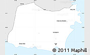 Silver Style Simple Map of Praia