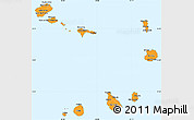 Political Shades Simple Map of Cape Verde