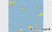 Savanna Style Simple Map of Cape Verde