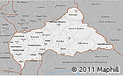 Gray 3D Map of Central African Republic