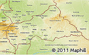 Physical 3D Map of Central African Republic