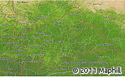 Satellite 3D Map of Central African Republic