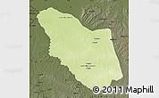 Physical Map of Bamingui, darken