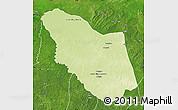 Physical Map of Bamingui, satellite outside