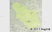 Physical Map of Bamingui, semi-desaturated