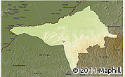 Physical 3D Map of Ndele, darken