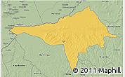 Savanna Style 3D Map of Ndele