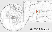 Blank Location Map of Bangui