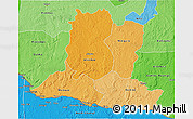 Political Shades 3D Map of Basse-Kotto