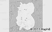 Gray 3D Map of Alindao