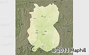 Physical 3D Map of Alindao, darken