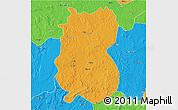 Political 3D Map of Alindao