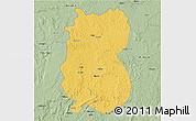 Savanna Style 3D Map of Alindao