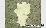 Physical 3D Map of Mingala, darken