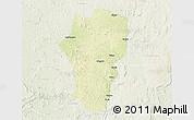 Physical 3D Map of Mingala, lighten