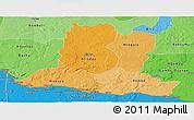 Political Shades Panoramic Map of Basse-Kotto