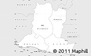Silver Style Simple Map of Basse-Kotto