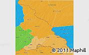Political Shades 3D Map of Haut-Mbomou