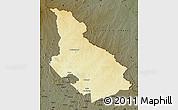 Physical Map of Djemah, darken