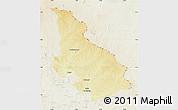 Physical Map of Djemah, lighten