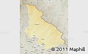 Physical Map of Djemah, semi-desaturated