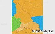 Political Shades Map of Haut-Mbomou