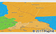 Political Shades Panoramic Map of Haut-Mbomou